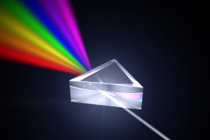 Prism Splitting White Light into Component Frequencies