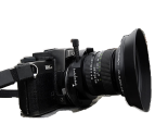 A Tilt/shift lens mounted on 35mmcamera